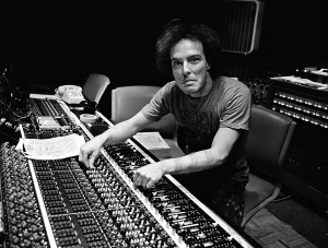 Jello Biafra sitting at the API console - we were mixing the last DK album