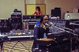 Stevie Wonder during rehearsals in LA for his 1979 tour.